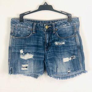 🆕 AE Distressed Boyfriend Shorts